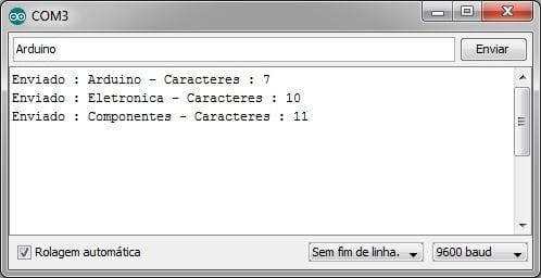 Serial Monitor - Envio de Dados