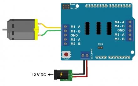 Controle Motor DC 12v com Arduino Motor Shield L293D