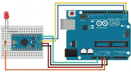 Programando um Arduino Pro Mini com Arduino Uno