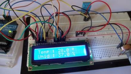 Mostrando informações de temperatura no LCD 16×2 com o DHT11