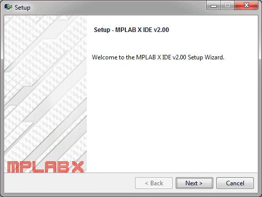 MPLab Install - Tela inicial