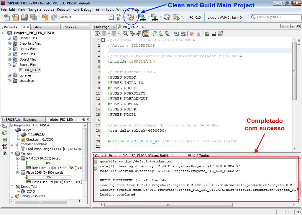 MPLab - Build successful