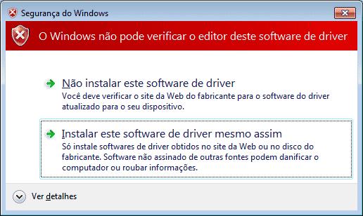 MPLab Install - Driver - Aviso