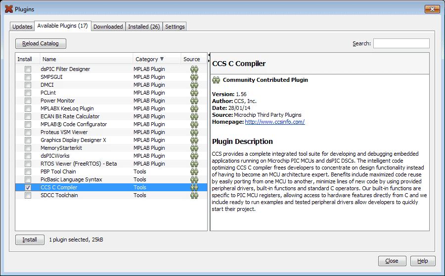 MPLab - Plugins CCS Install