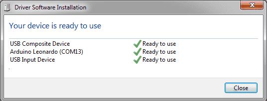 Arduino Leonardo - USB Drivers