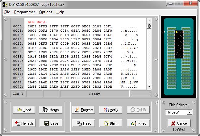 MicroBRN - Gravando 16F628A