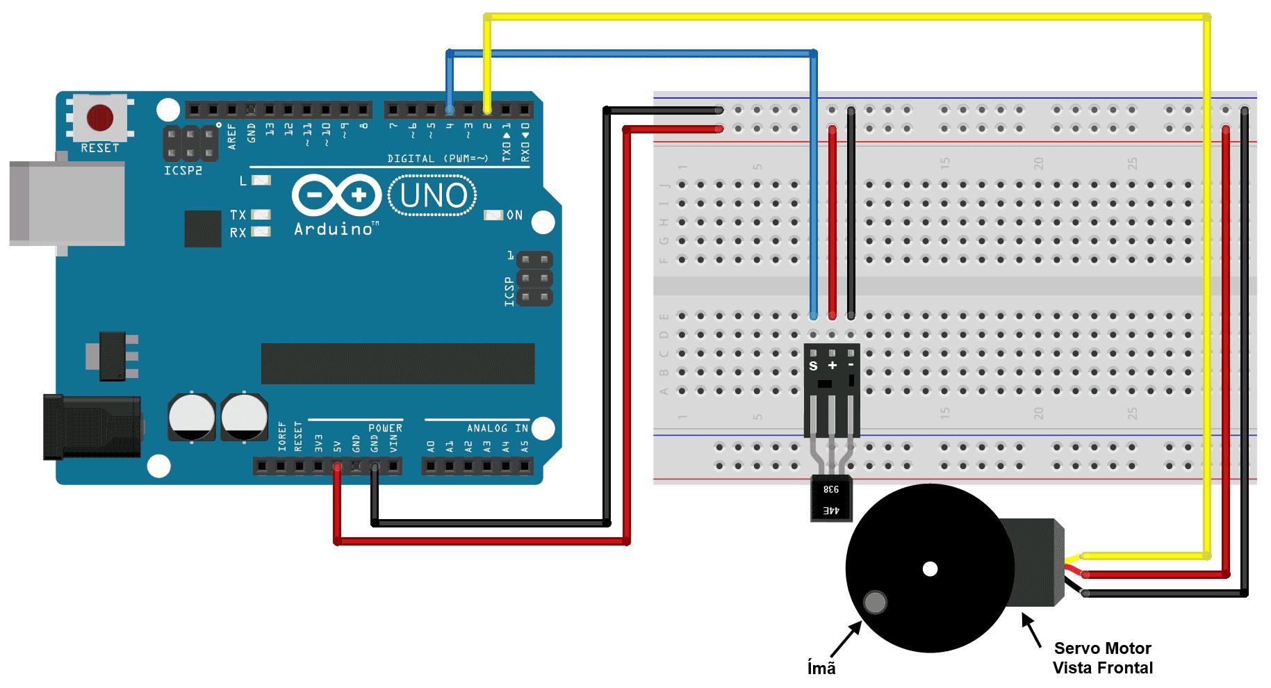 Circuito Sensor Hall - Servo Motor