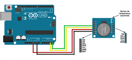 Relógio com o módulo RTC DS1307