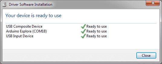 Esplora - Instalação drivers Windows 7