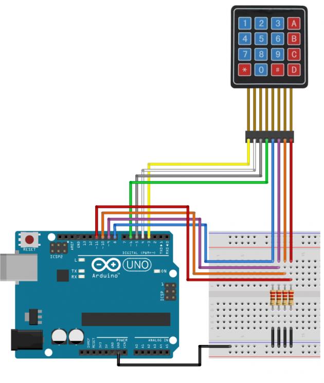 Como usar o Teclado Matricial 4×4 com Arduino