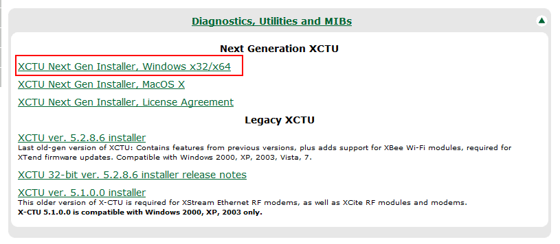 Download XCTU - Xbee - Windows
