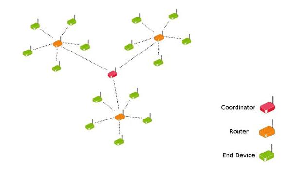 Estrutura rede Xbee