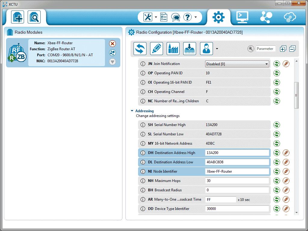 XCTU - Configuração módulo router