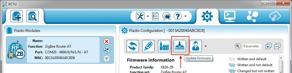 XCTU - Update Firmware