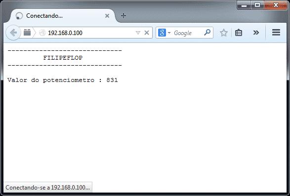 Browser - Teste biblioteca Adafruit