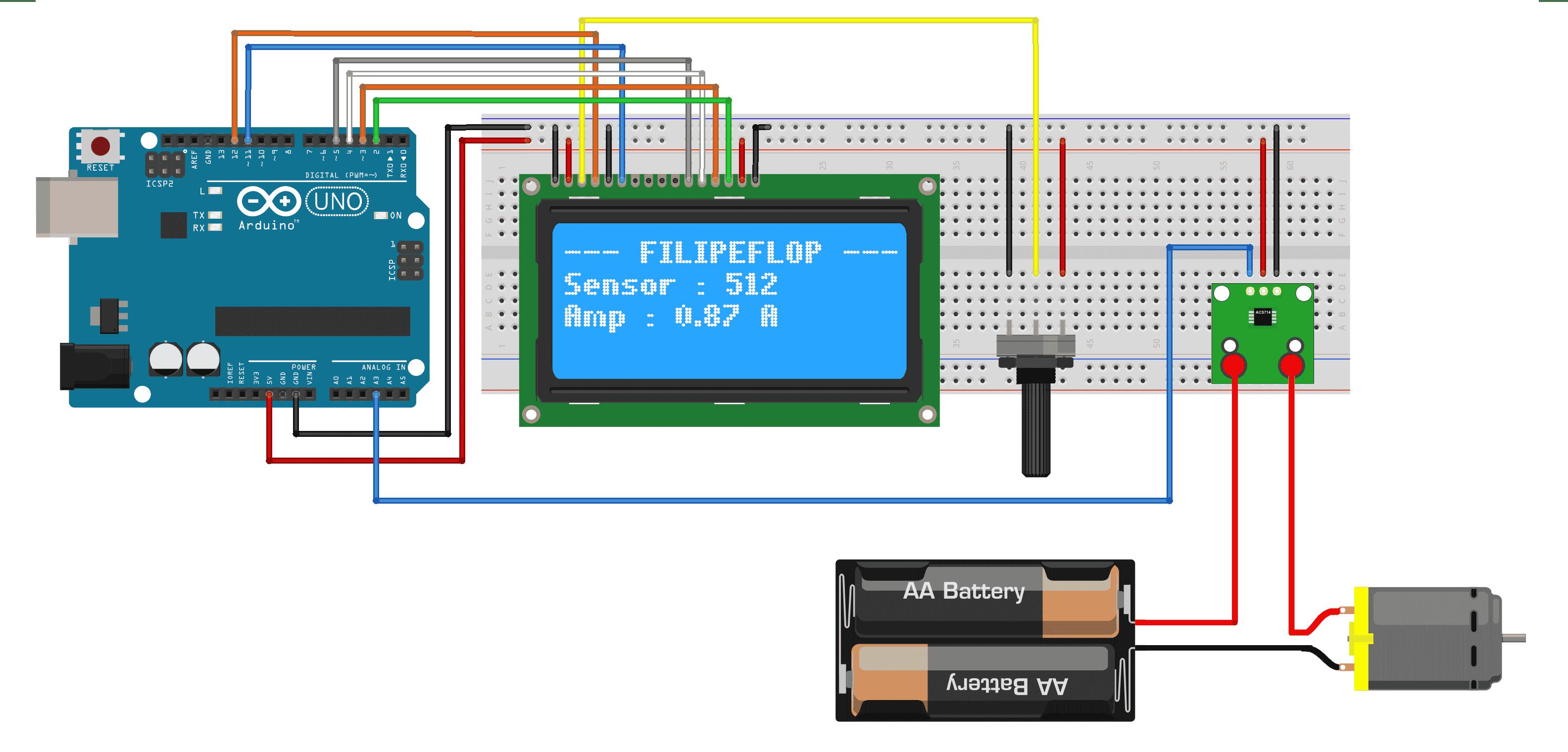 Circuito Sensor de corrente ACS714