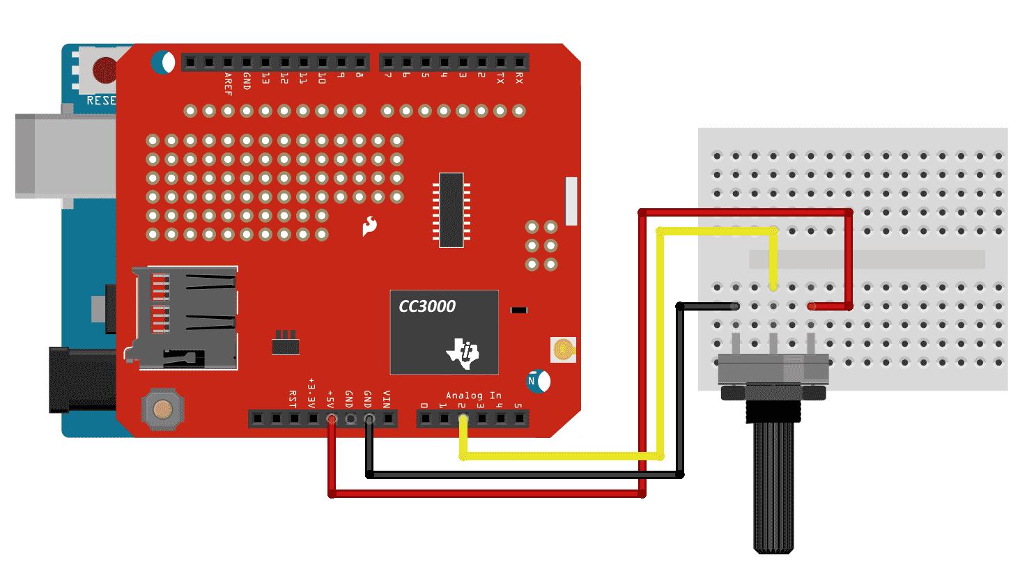 Circuito Arduino Uno Wifi Shield CC3000