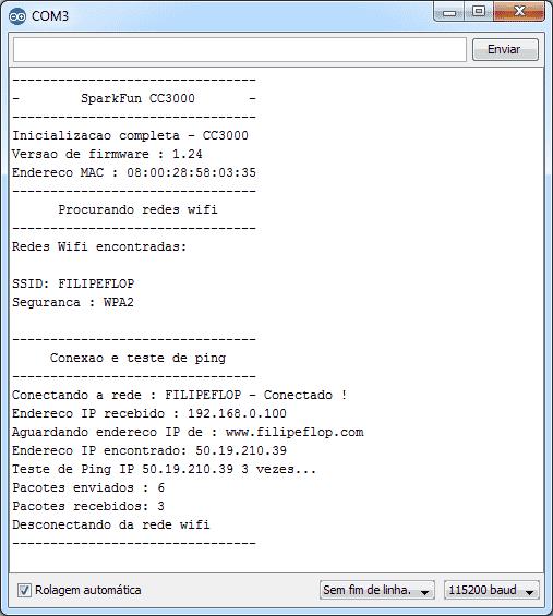 Serial Monitor - Teste com biblioteca Sparkfun