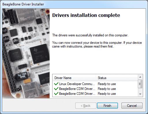 BeagleBone - Drivers instalados