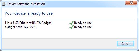 BeagleBone - Dispositivos Windows