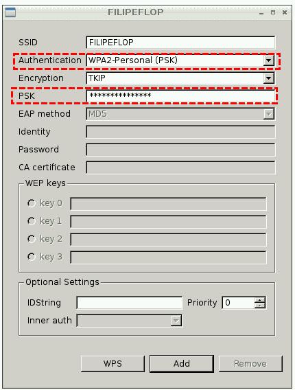 Wifi Config Configurações