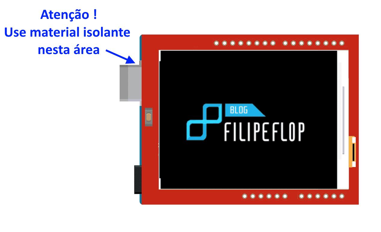 Arduino Uno Shield TFT Touchscreen