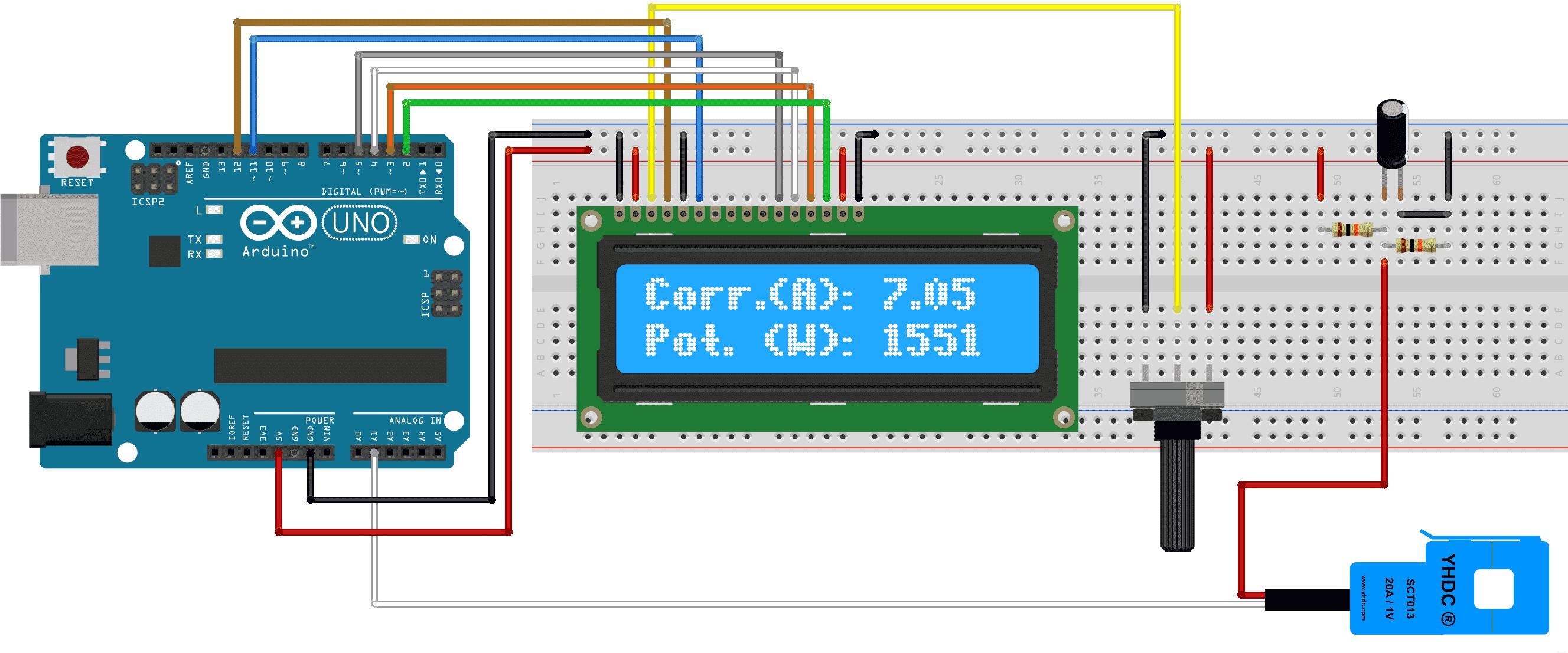 Circuito Arduino - Sensor corente SCT-013