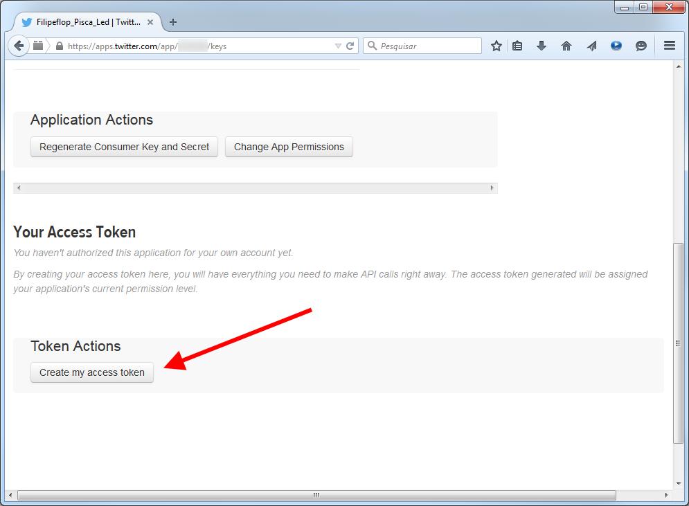 Twitter - Criar Access Token