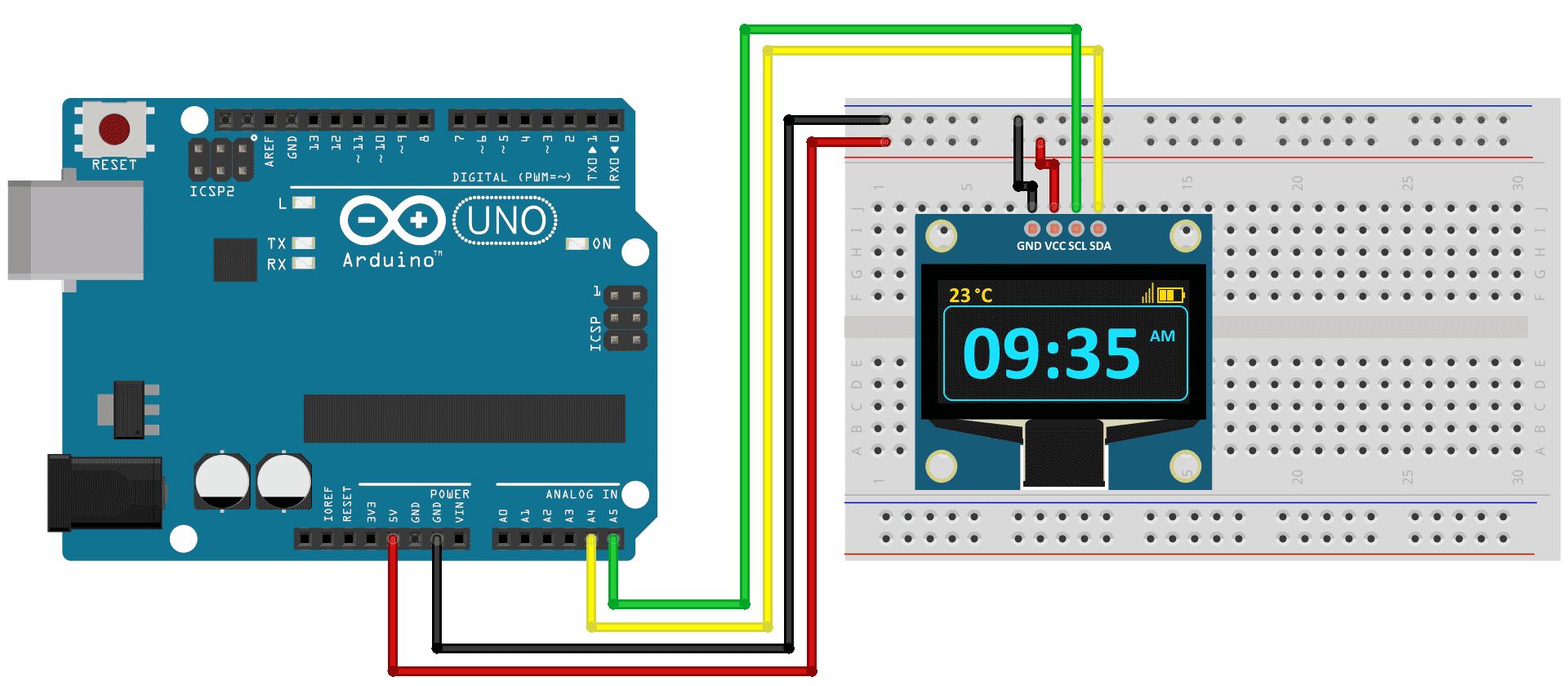 Como conectar o display oled ao arduino filipeflop