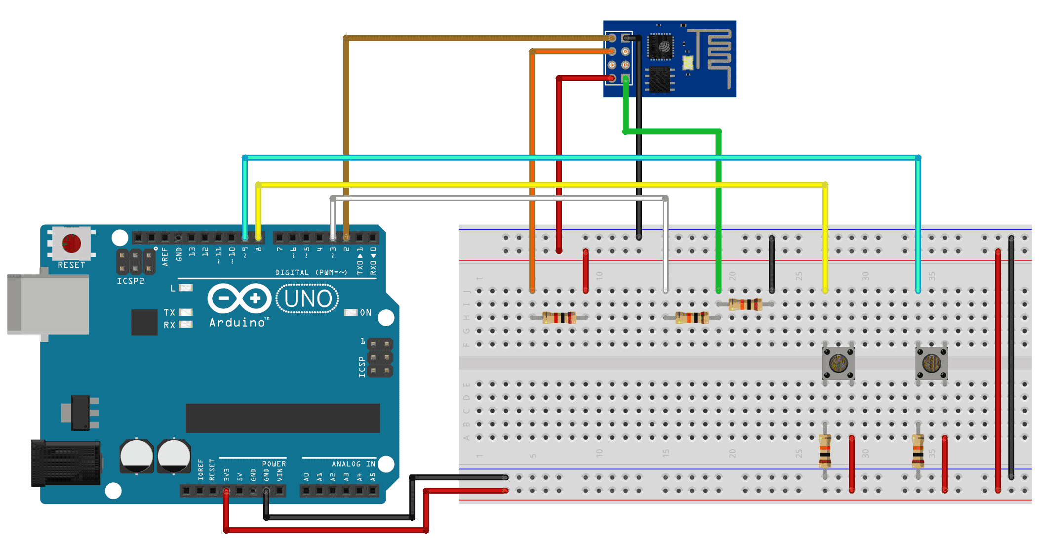 Problems to communicate esp with arduino uno