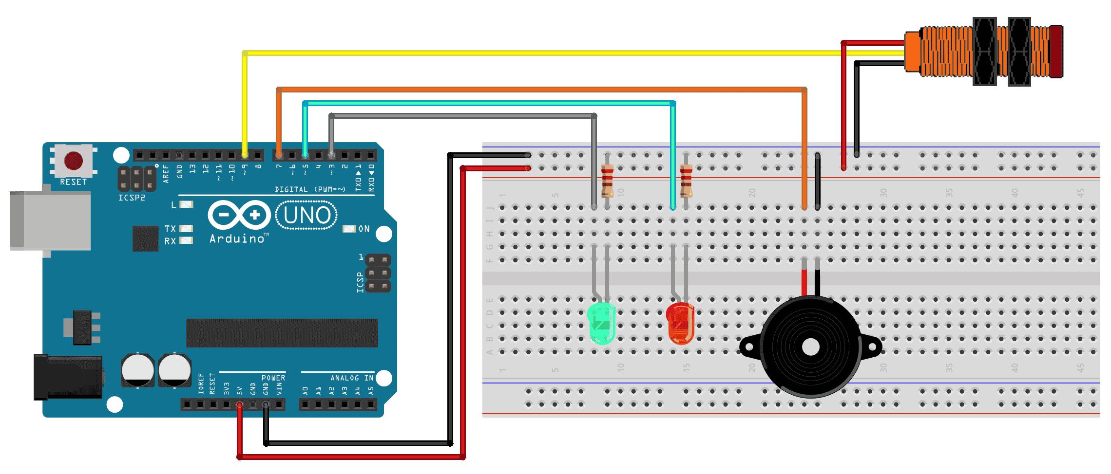 Circuito Arduino e Sensor infravermelho