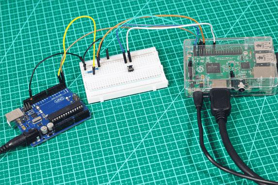 Circuito Arduino Uno e Raspberry Pi 2