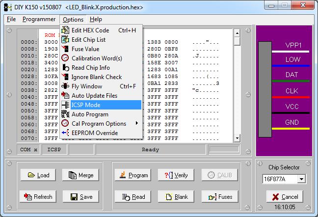 MicroBrn ICSP mode