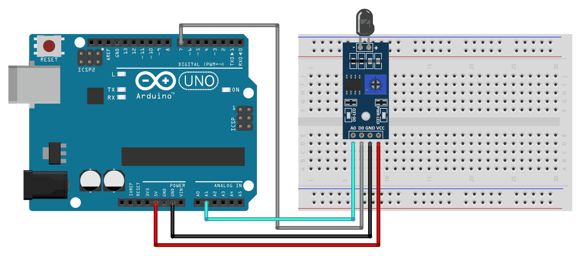 Circuito Arduino Sensor de Chama