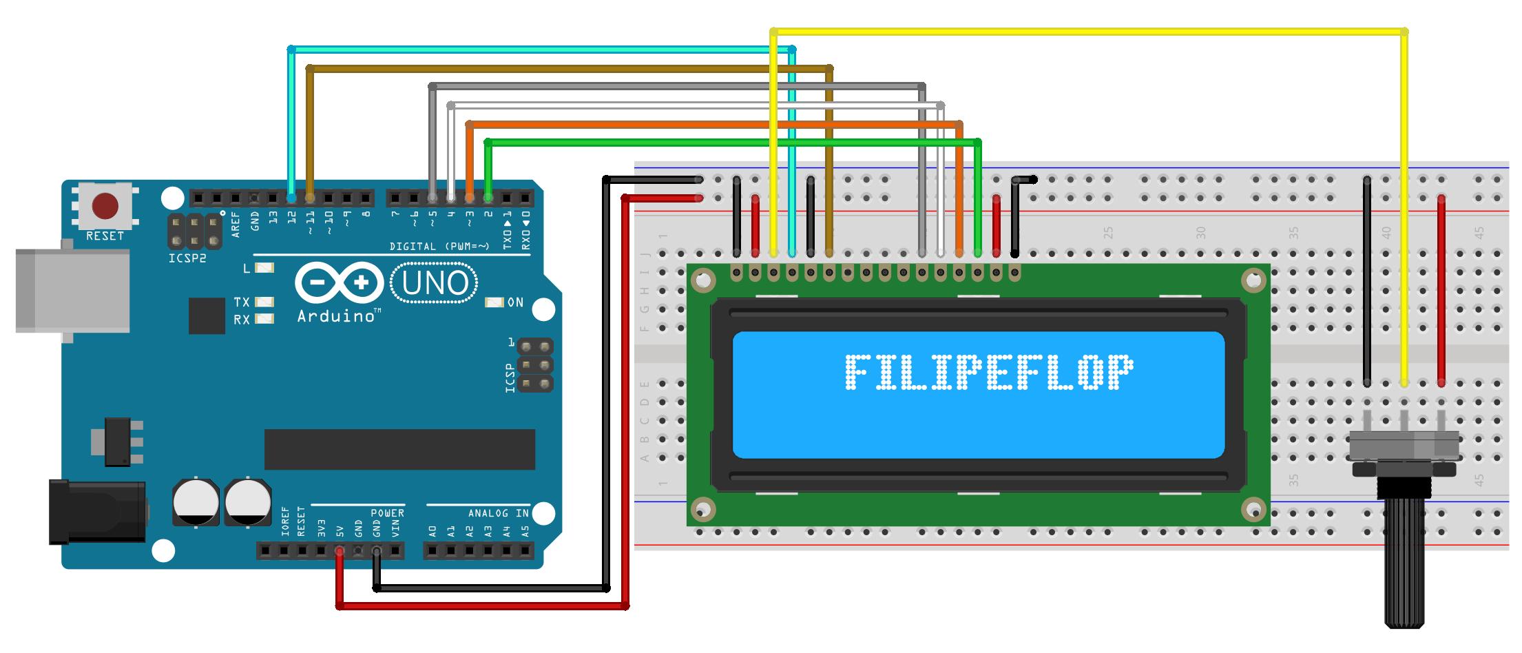 Controlando um lcd com arduino filipeflop