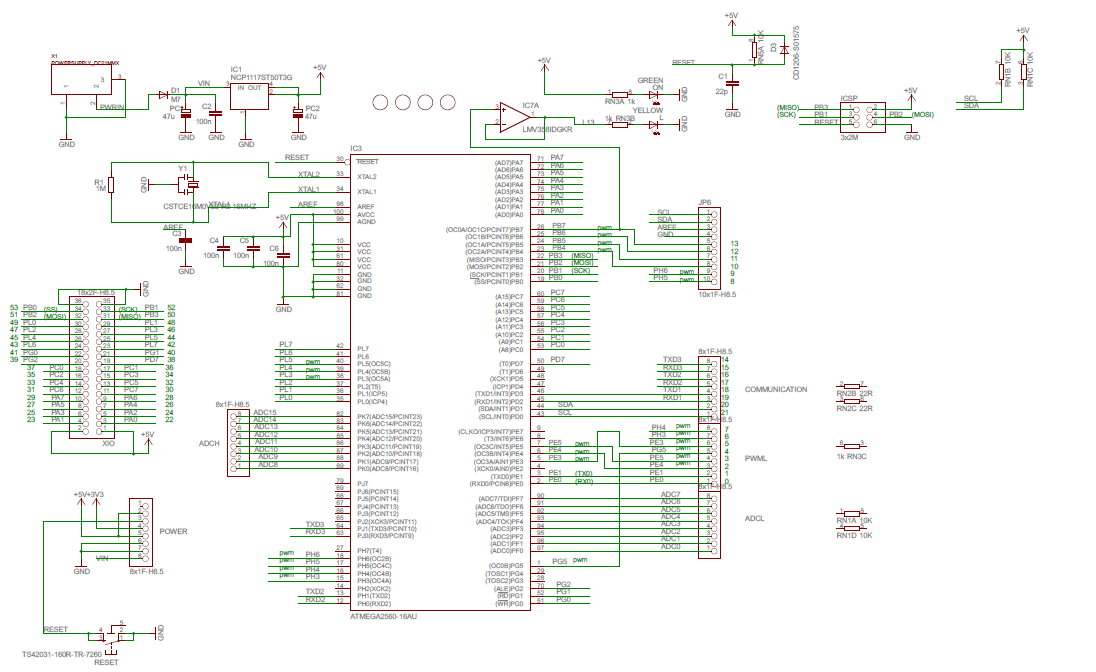 Hardware do Arduino Mega 2560