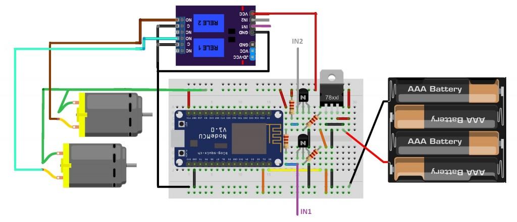 Esquemático Robô IoT com ESP8266 NodeMCU