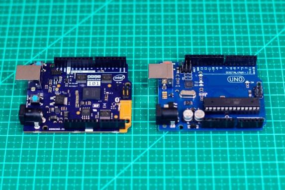 Comparativo Genuino 101 e Arduino Uno
