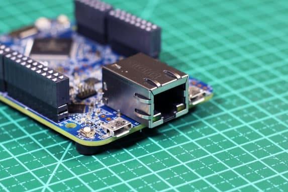 Detalhe Ethernet Shield