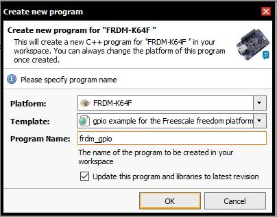Criando novo programa no compilador