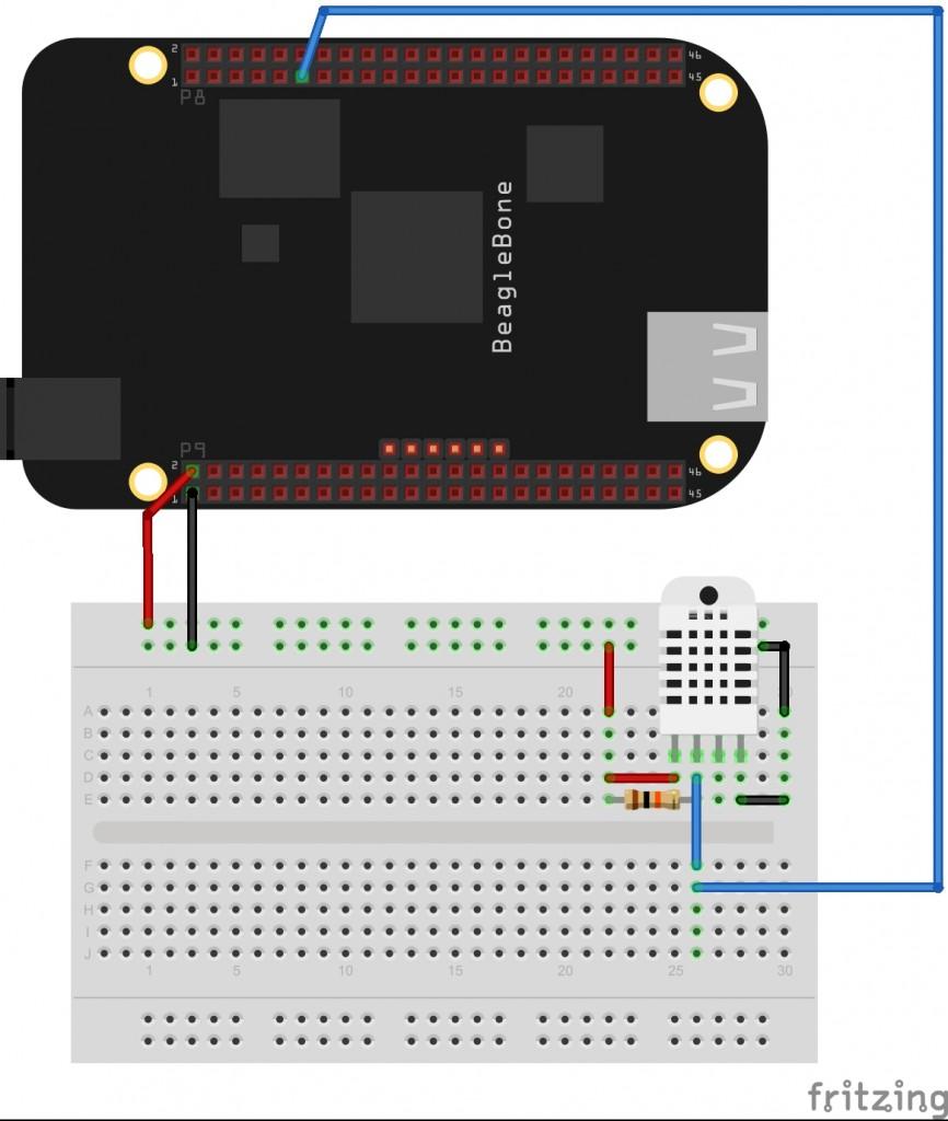 Circuito Datalogger com BeagleBone Black