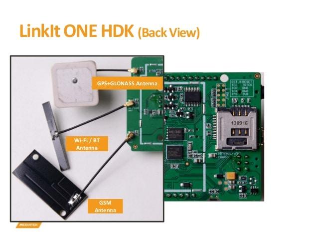 LinkIt One Conexões Antenas