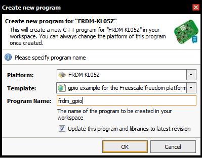 new program mbed