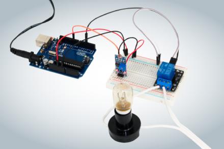 Acionando relé com sensor de luz LDR