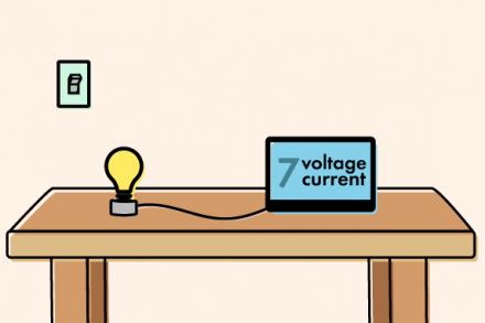 Medidor de corrente e tensão 100A com display